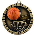 Basketball 3-D 360 Series Medals