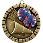 Cheerleader 3-D 360 Series Medals