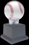 Allstar Baseball Holder on Black Plastic Pedistal Base Baseball Displays