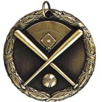 Baseball with Field Baseball Medals