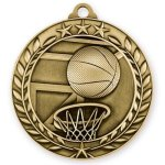 Wreath Medal -Basketball Basketball Medals