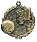 Wreath Basketball Medals Basketball Medals