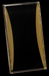 Black/Gold Standing Reflection Acrylic Award Recognition Plaque Column Acrylics