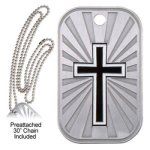 Cross Dog Tag Dog Tags - Blank