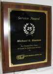 Cherry Finish Plaque Board with Double Plating Economy Plaques