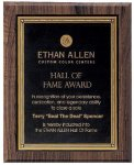 Walnut Hardwood Bevel Edge Plaques Employee Recognition