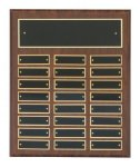 Cherry Finish Perpetual Plaques Employee Recognition