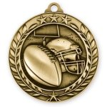 Wreath Award Medallion -Football Football Medals