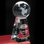 Tapered Globe Globe Crystal & Glass