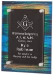 Painted Acrylic Stand-Off Plaque Award Multi Colored Acrylics