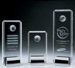 Crystal Tower Award W/Globe Obelisk & Tower Crystal & Glass