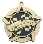 Pinewood Derby 2 1/4 Super Star Medal  Gold Pinewood Derby Medals