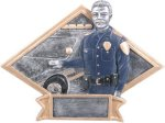 Law Enforcement Diamond Plate Resin  Police/Firefighter