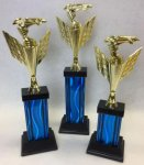 Racing Flag Riser Trophy Set Racing Flag Riser Trophies