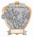 Signature Series Motocross Shield Award Racing Trophy Awards