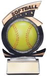 Gold Star Softball Award Softball Resins
