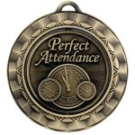 Perfect Attendance Spinner Medals
