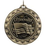 Citizenship Spin Spinner Medals