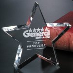 Tapered Star Star Crystal & Glass