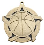 Basketball Super Star Medal  Gold Super Star Medal Awards