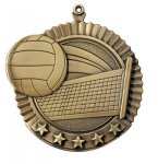 Star Volleyball Medals Volleyball Trophy Awards