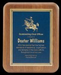 Plaque with Diamond Plate Award Walnut & Alder Plaques